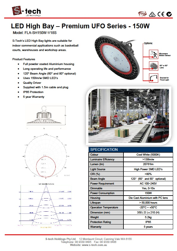 LED High Bay – Premium UFO Series 150W 5