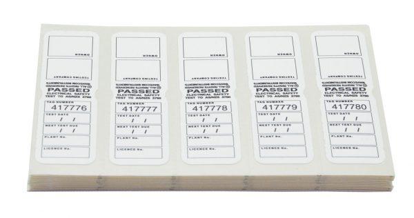 TT 6 WHITE TEST TAGS